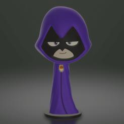 """raven1.png Télécharger fichier STL Dessin animé """"Raven Teen Titans • Design pour impression 3D, HTBROS"""