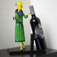 BURNS ROBE JPG.JPG Download STL file MR BURNS WINE HOLDER • 3D printing model, HTBROS