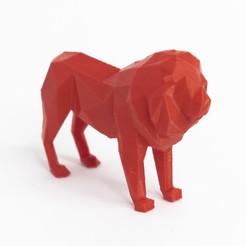 Download 3D print files Lowpoly lion, daesco