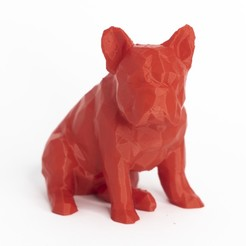 Descargar STL Low poly dog french bulldog, daesco