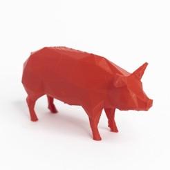 Download 3D printer files Lowpoly pig, daesco