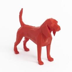 Descargar archivos STL Lowpoly dog beagle, daesco