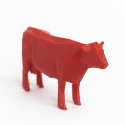 cow.jpg Download STL file Lowpoly cow • Object to 3D print, daesco