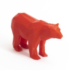 Download 3D printing templates Lowpoly polar bear, daesco