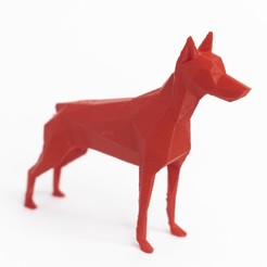 Descargar modelo 3D Lowpoly dog doberman , daesco