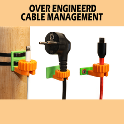 Cable_Management.png Download free STL file Cable Management Clips/Guides (Modular & Lock) • 3D printer template, PattysLab