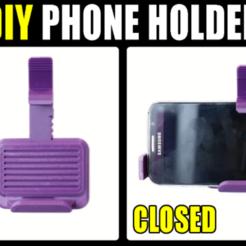 Thumbnail_Wall_Mounted_Phone_Holder_Rev3_Tiny.png Download free STL file Wall Mounted Phone Holder • 3D print model, PattysLab