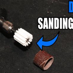 Dremel_Sanding_Drum_Thumbnail_Rev3_Tiny.png Download free STL file Dremel Sanding Drum • 3D printer model, PattysLab