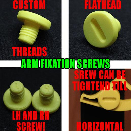 Screws.png Télécharger fichier STL 4 porte-papier hygiénique à changement rapide + serrure :) • Modèle à imprimer en 3D, PattysLab