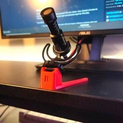 inv_08ffc4c8-4f41-499c-ab48-490a3fb74ee9.jpg Download STL file Mini Portable Desk Stand for Rode Videomicro • 3D printable template, w3de
