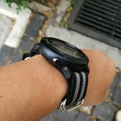 Download 3D printer templates Watch Strap Adapter for Suunto Core to Nato 24mm, w3de
