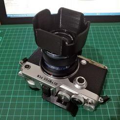 IMG_20200906_173944_result.jpg Download STL file Reversible Lens Hood for Olympus M.Zuiko 45mm F/1.8 Lens • Design to 3D print, w3de