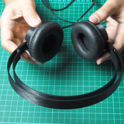 image_2020-11-02_073030.png Download free STL file Headphone Headband and Cups for 40mm Driver • 3D printable object, w3de