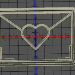 imagen corazon sobre.jpg Download STL file valentine's day cookie • 3D printer object, manuelrosales