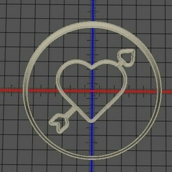 corazon flecha.jpg Download STL file cookie heart arrow valentine's day • 3D printing design, manuelrosales