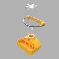Coke_Bottle_Bird_Feeder_v4_2020-Dec-06_12-56-44PM-000_CustomizedView29872945882_jpg.jpg Download STL file Quail Food Feeder • 3D printer template, MrJefferson105