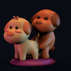 screenshot001.png Download STL file LOVE DOGS • 3D printable model, CGOMEZ_estudio