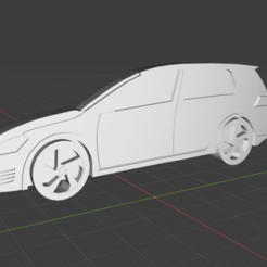 Isometric 1.png Download STL file VOLKSWAGEN GOLF GTI Keyring Printable • Object to 3D print, joaomotter0