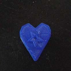 IMG_20190623_211817.jpg Download free STL file 1mm Guitar pick with pentagram • 3D printer model, Abbin21