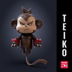 presentacion mono.jpg Télécharger fichier STL Singe flottant / méchant singe ! • Objet à imprimer en 3D, Teiko
