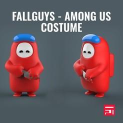 fall_4.jpg Download STL file Fallguys Among Us costume • 3D printer model, Teiko