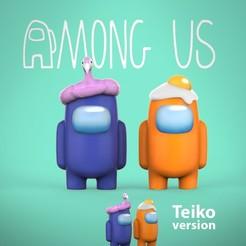 Descargar archivo STL Among Us mini! version con mochila y otra con manos y mochila! • Objeto para imprimir en 3D, Teiko