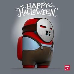 jason5.jpg Télécharger fichier STL Parmi nous, le masque de Jason pour Halloween • Modèle pour impression 3D, Teiko