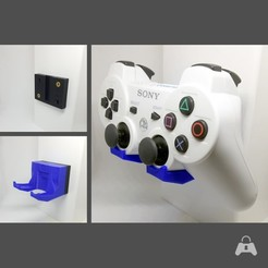 ds3_3-Window_blue_square.jpg Download STL file Padlock Videogame Controller Wall Mount - PlayStation 3 Dualshock + Sixaxis Controller • 3D printing template, NinjaBoots88