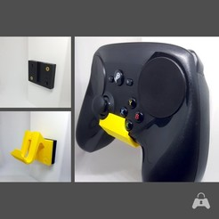 steam_3-Window_yellow_square.jpg Download STL file Padlock Videogame Controller Wall Mount - Steam Controller • 3D printer model, NinjaBoots88