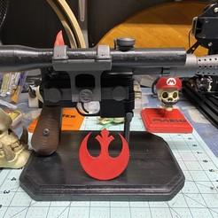 Descargar archivo STL gratis Han Solo DL-44 Pistola Blaster Pesado - kit de modelo 3D • Modelo para imprimir en 3D, aporcelli26
