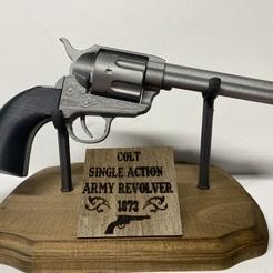 Descargar archivo STL gratis Revólver Cattleman - Colt Modelo 1873 Revólver del Ejército de Acción Individual • Plan imprimible en 3D, aporcelli26