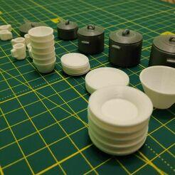 IMG_20201216_193808.jpg Télécharger fichier STL Maison de poupée : vaisselle, casseroles et poêles • Modèle pour impression 3D, pgman