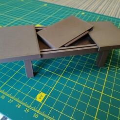 IMG_20201220_110734_1.jpg Télécharger fichier STL Dollhouse : Table extensible • Design pour impression 3D, pgman