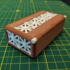 IMG_20210109_141207.jpg Download STL file Casket with roman lattice pattern • Model to 3D print, pgman