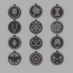 Download 3D printing files Marvel Pack Keychain, d4videcip
