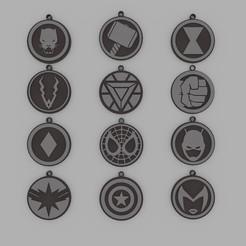 Marvel Pack Keychain.jpg Download STL file Marvel Pack Keychain • Template to 3D print, d4videcip