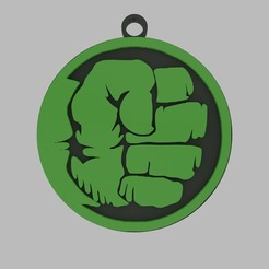 untitled.jpg Download STL file Hulk keychain • 3D print model, d4videcip