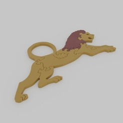 lion2.jpg Download STL file Lion Jigsaw Puzzle • Design to 3D print, d4videcip