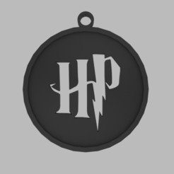 harry.jpg Download STL file Harry Potter keychain • Model to 3D print, d4videcip