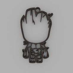 Download 3D printer designs Groot Keychain, d4videcip