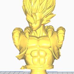 gogeta busto.png Download STL file goggle bust • 3D printing design, javiialcazar2