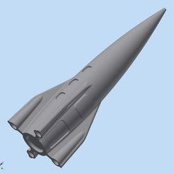 Cohete Tipo Rocket_000.jpg Télécharger fichier STL gratuit BATEAU DE PÊCHE • Plan pour impression 3D, Adrian3D2020