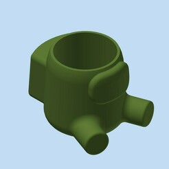 AmongUS_MAC_diam85x90_sentado_001.jpg Download STL file AMONG US SITTING POT • 3D printable model, Adrian3D2020