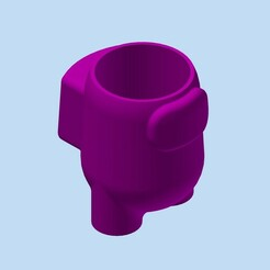 AmongUS_MAC_diam85x90_parado_001.jpg Download STL file AMONG US STANDING POT • 3D printing object, Adrian3D2020