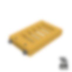 18650_2P_base_V2_Vented.stl Télécharger fichier STL gratuit NESE, le module V2 sans soudure 18650 (VENTED) • Objet pour imprimante 3D, 18650