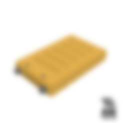 18650_2P_base_V2.stl Télécharger fichier STL gratuit NESE, le module V2 sans soudure 18650 (FERMÉ) • Objet pour imprimante 3D, 18650