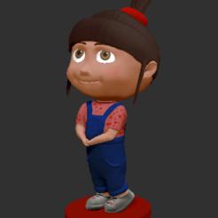 niña villano color.png Download STL file girl villain • 3D printable template, carocadelago2