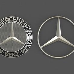 Download 3D printer designs Mercedes Logo, Helyona
