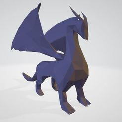 dragon-1.JPG Download STL file Low Poly Dragon • 3D printable template, dylix3d