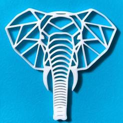 elephant.jpeg Download STL file Elephant Poly Wall • 3D printer model, dylix3d